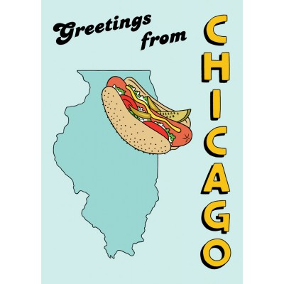 Postcard - Greetings Chicago