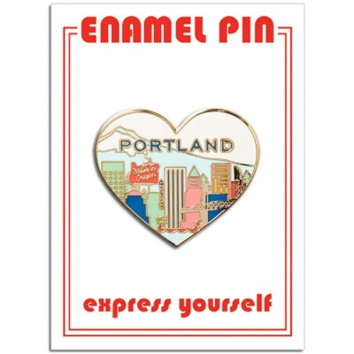 Pin - Portland Skyline Heart