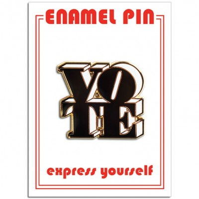 Pin - VOTE (Black & White)