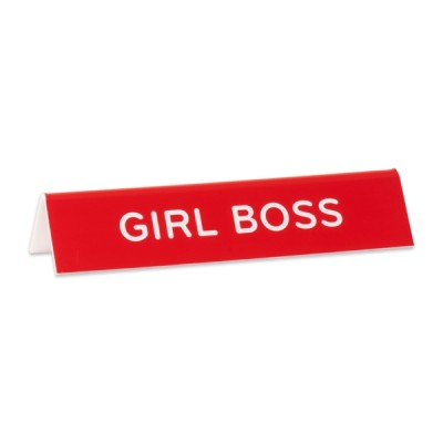 Desk Sign: Girl Boss