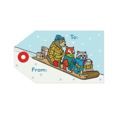 Tag - Animal Sleigh (8/pk)