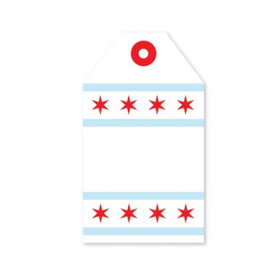 Tag - Chicago Flag (8/pk)